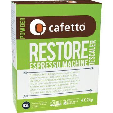Cafetto Restore ekologiskt avkalkningsmedel 4 x 25 g påse