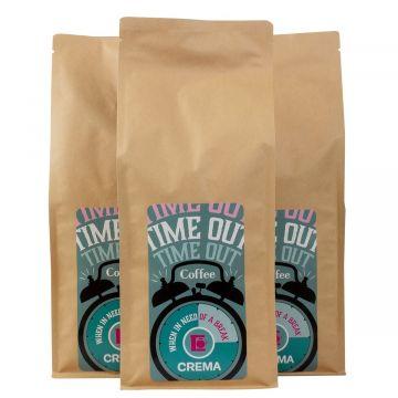 Crema Time Out bryggkaffe 3 x 1 kg kaffebönor