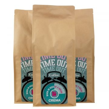 Crema Time Out bryggkaffe 3 x 1 kg bryggmalet