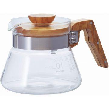 Hario Coffee Server Olive Wood kaffekanna storlek 01, 400 ml