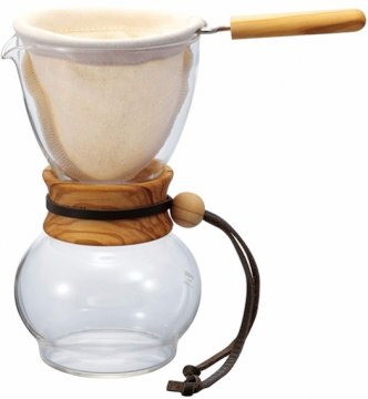 Hario Drip Pot Woodneck, Olive Wood kaffefilter 480 ml