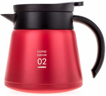 Hario V60 02 Insulated Stainless Steel Server 600 ml, röd