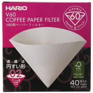 Hario V60 storlek 02 kaffefilter 40 st