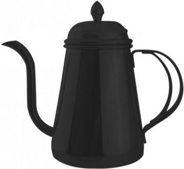 JoeFrex Drip Kettle med lock 600 ml, svart