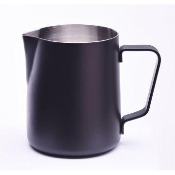 JoeFrex pulvermålad mjölkskumningskanna 350 ml, svart