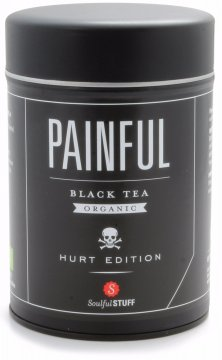 Soulful Stuff Painful svart te, burk 160 g