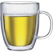 Bodum Bistro dubbelväggad glasmugg 450 ml, 2 st.