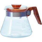 Hario Coffee Server Olive Wood kaffekanna storlek 02, 600 ml