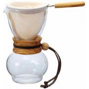 Hario Drip Pot Woodneck, Olive Wood kaffefilter 240 ml